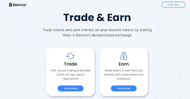 Screenshot Website Bancor Network Token (BNT)