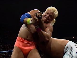 WCW Halloween Havoc 1989 -  Shane Douglas puts a hurting on Jimmy 'Jam' Garvin