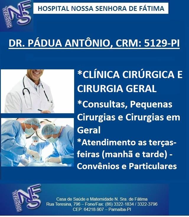 Resultado de imagem para blogdopessoa hospital nossa senhora de fátima dr. padua
