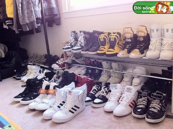 Bộ sưu tập giày sneaker tột đỉnh của anh chàng việt tại mỹ bạn nữ nào cũng m3ê