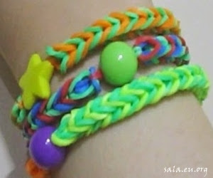 How To Make Handicraft Bracelet Accessories From Hair Rubber