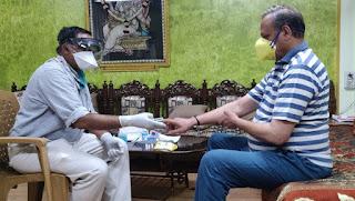 जावरा विधायक डॉ. पांडेय ने परीक्षण कराया