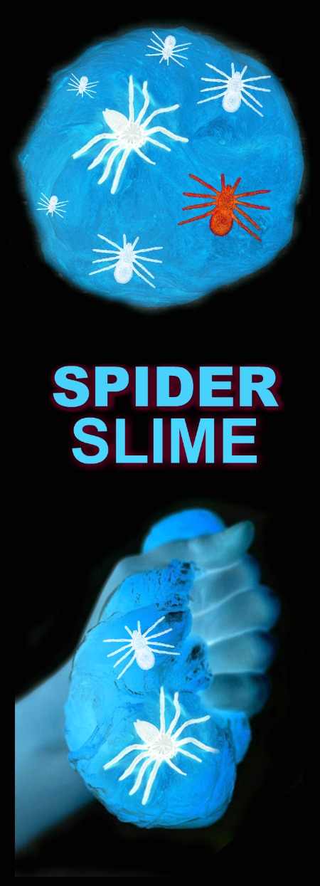 SPIDER SLIME FOR KIDS: creepy-crawly, ooey-gooey, and oh-so-fun!