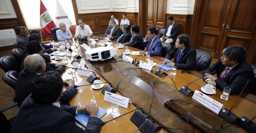 Presidente Martín Vizcarra participa hoy Gore Ejecutivo Extraordinario 2018
