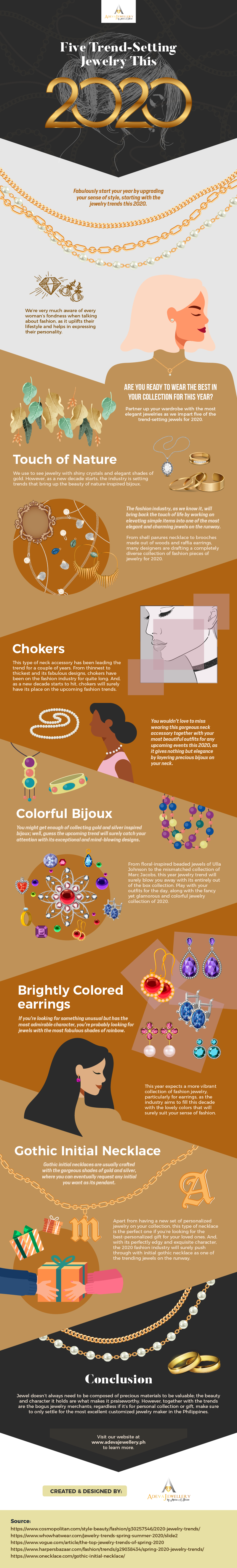 Five Trend-Setting Jewelry Styles this 2020 #infographic