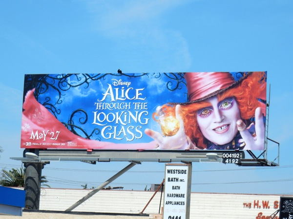 Disney Alice through Looking Glass movie billboard