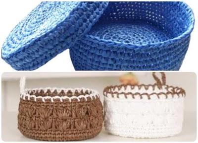 Patron Crochet Cestos