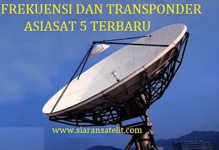 Frekuensi dan Transponder Terbaru Asiasat 5