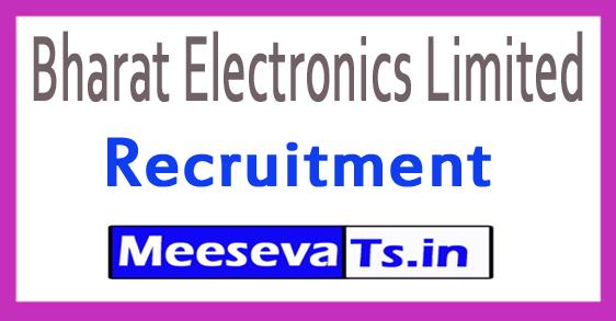 Bharat Electronics Limited BEL Recruitment Notification 2017