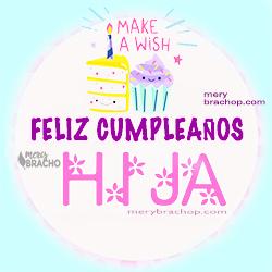 tarjeta, imagen y frases de cumpleaños para mi hija