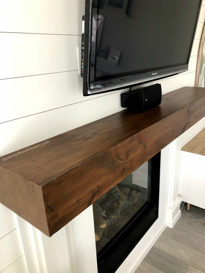 Faux Wood Beam Mantel