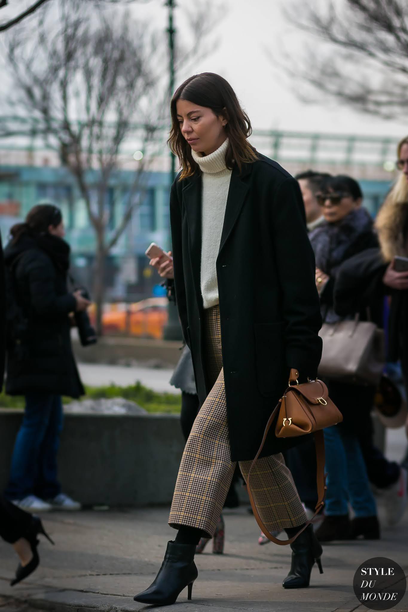 Plaid Pants Winter Outfit Idea