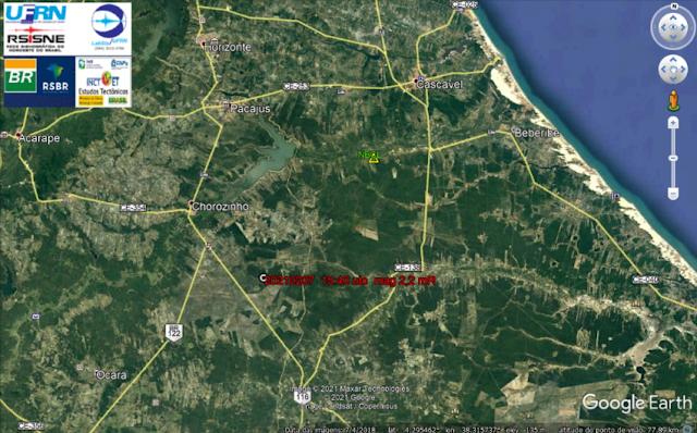 Tremor de terra de magnitude 2.2 é registrado no interior do Ceará