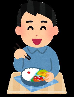 お弁当のイラスト「男性・弁当男子」