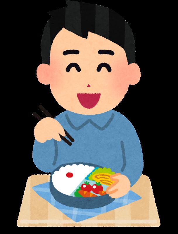 お弁当のイラスト「男性・弁当