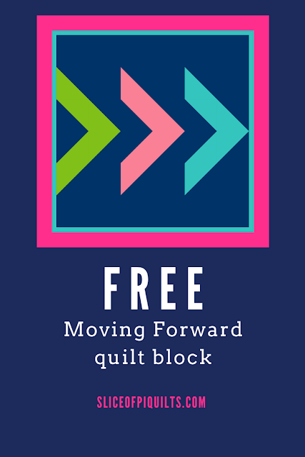 Moving Forward free quilt block pattern