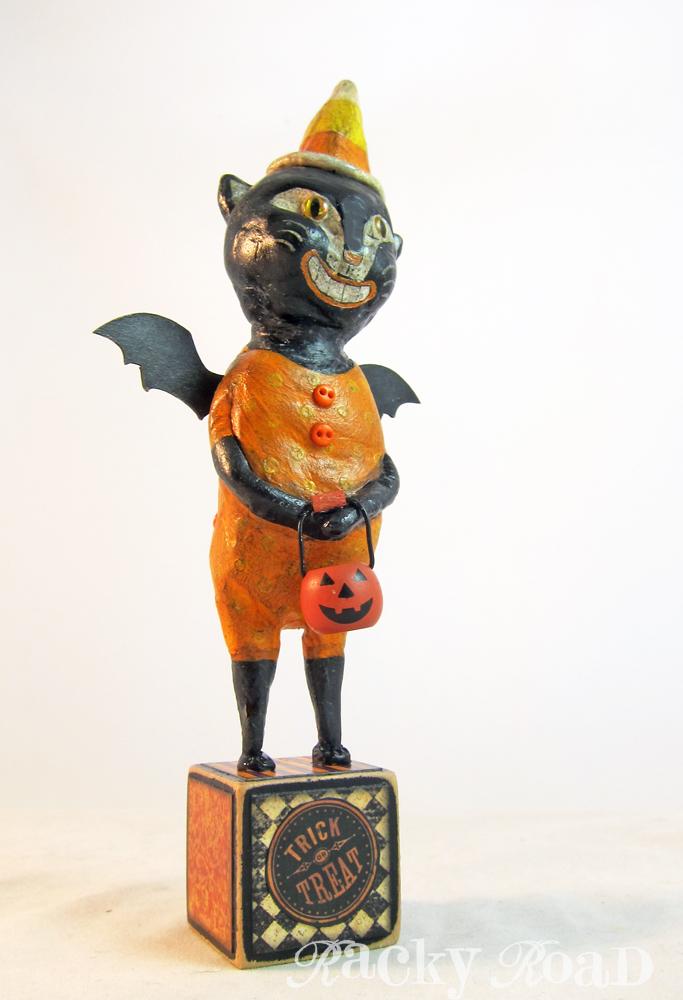 junk&stuff: Halloween Cat Bat