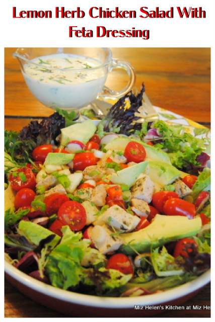 Lemon Heb Chicken Salad With Feta Dressing at Miz Helen's Country Cottage