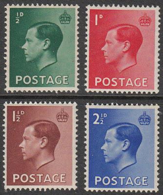 GB 1936 Edward VIII Definitives Stamps Set.