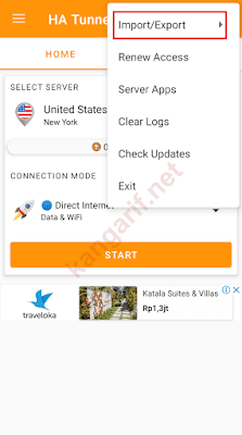 klik import/export
