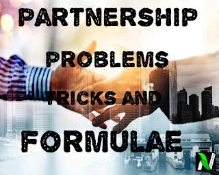 Partnership problems tricks in Hindi | fast track formulae for problem solving.