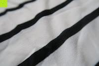 Stoff: Yidarton Damen Rundhals Gestreift Stretch Basic T-Shirt Oberteile Langarmshirt Loose Bluse Tops