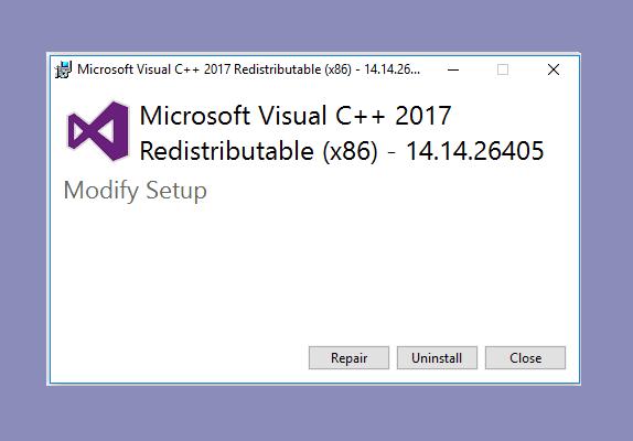 Repair Visual C