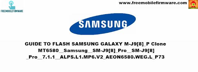 Guide To Flash Samsung Galaxy J9 Pro Clone MT6580 Via SP Flashtool