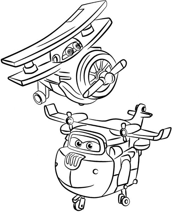 Super wings smart coloring pages 13