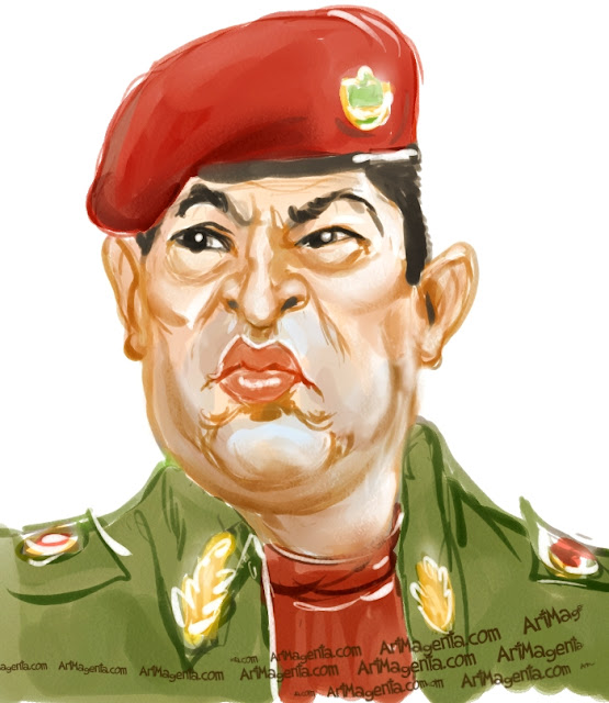 Hugo Chavez is a caricature by Artmagenta