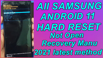 Samsung Android 11 Hard Reset Not Open Recovery Manu 2021 New Method No Need Pc.