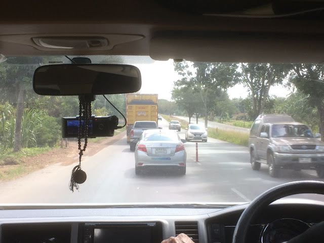 Minibus view of the road to Chumpon