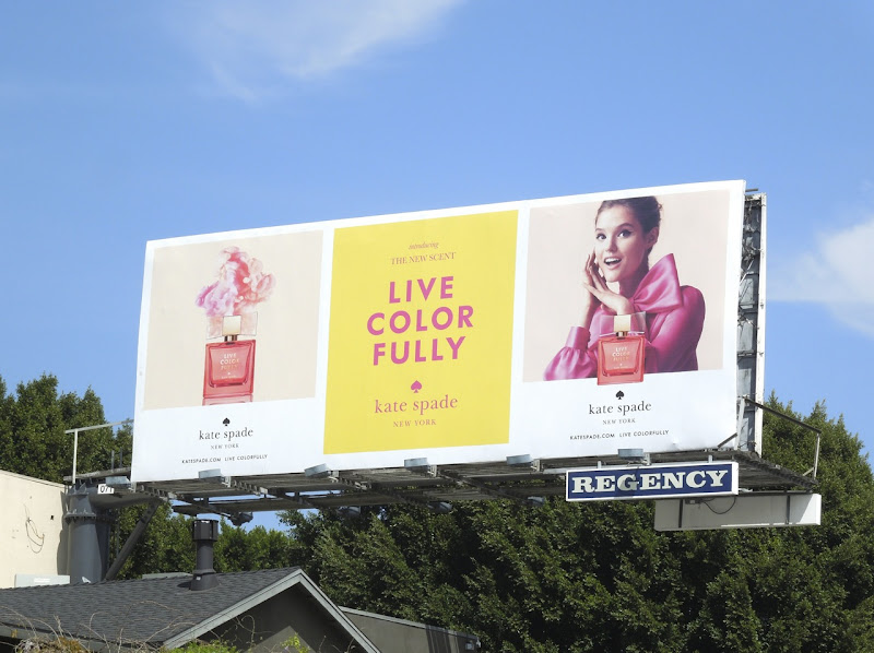 Kate Spade Live Colorfully fragrance billboard