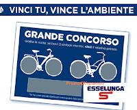 """Concorso Esselunga """"Vinci la mobilità"""" : in palio 390.000 premi ( buoni spesa, biciclette, monopattini e trolley per la spesa)"""