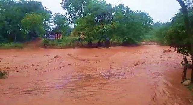 Mais de 100 famílias ficam isoladas por conta das fortes chuvas em cidade do Piauí