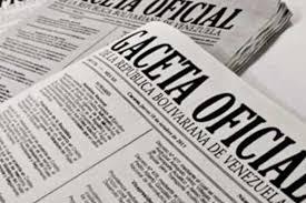 SUMARIO Gaceta Oficial Nº 41749 de fecha 30 de octubre de 2019