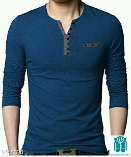 Men's Stylish Cotton Solid T-Shirts