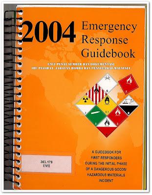 Sipnosis Buku : 2004 Emergency Response Guidebook