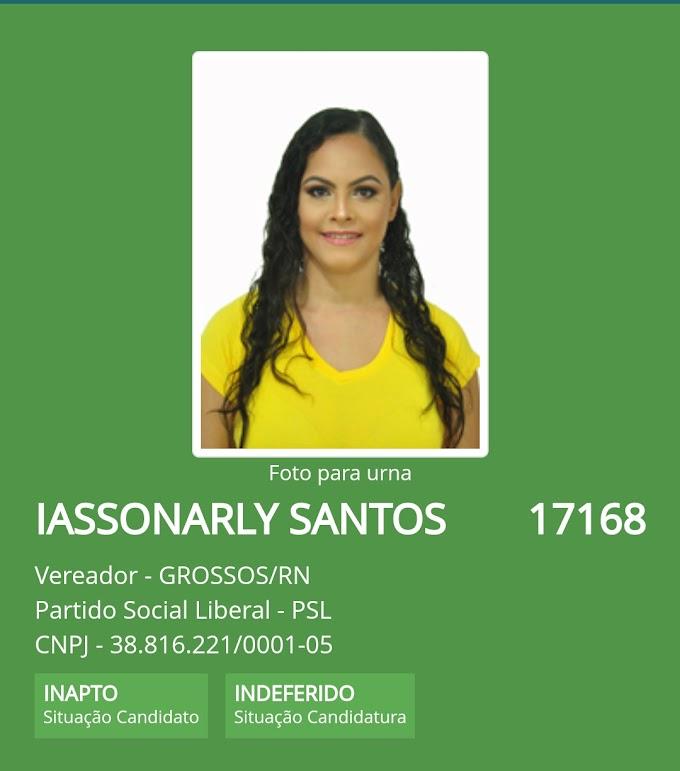Candidata a vereadora pelo PSL em Grossos tem registro indeferido