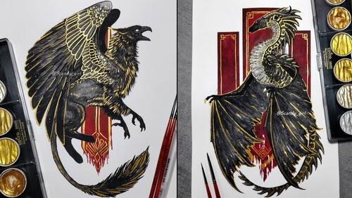 00-Jonna-Hyttinen-Mythology-and-Fantasy-in-Animal-Paintings-www-designstack-co