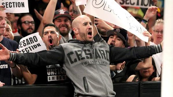 Cesaro derrotando a Roman Reigns y Ambrose en votación de WWE.COM