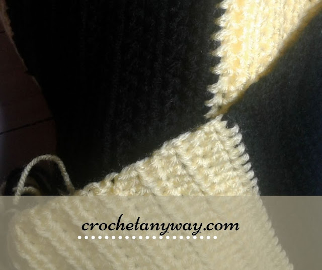 crochet hufflepuff scarf