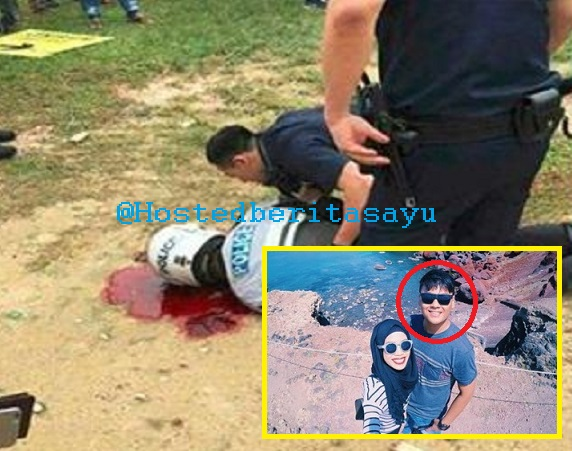 SAYU !! Inai masih merah dijari nya...Polis Trafik maut cedera parah dikepala dirempuh Van (3 Gambar)