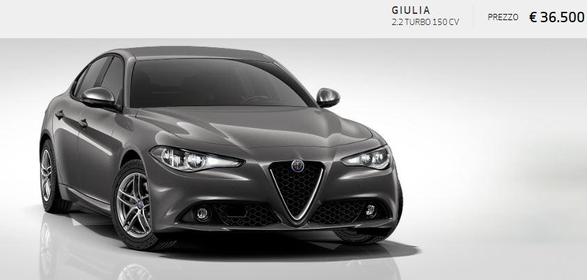 Alfa Romeo Giulia colore Metallizzato-Grigio Vesuvio