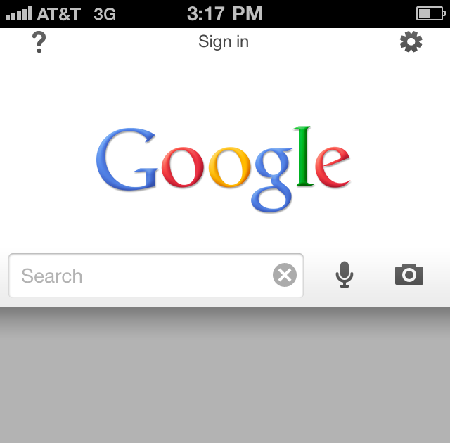 TECHNOLOGY: Google Search app for iPhone.