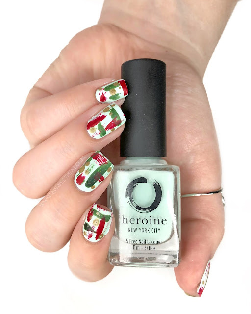 Abstract Christmas Nail Art