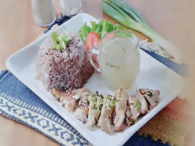 Gambar Resep Nasi Gurih Ayam Ungu