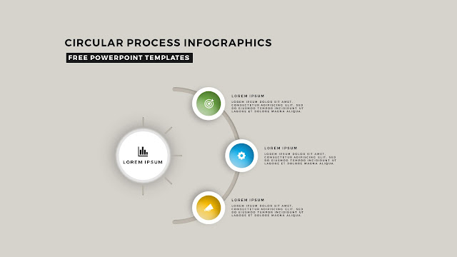 Circular Process Diagram Infographic Free PowerPoint Template Slide 5