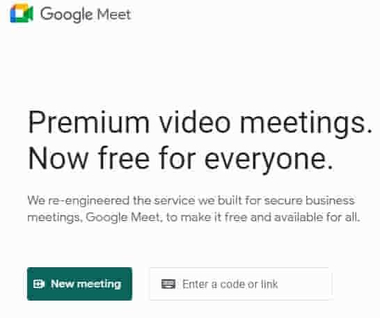 klik new meeting di google meet