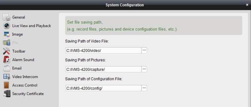 Where IVMS-4200 files are saved